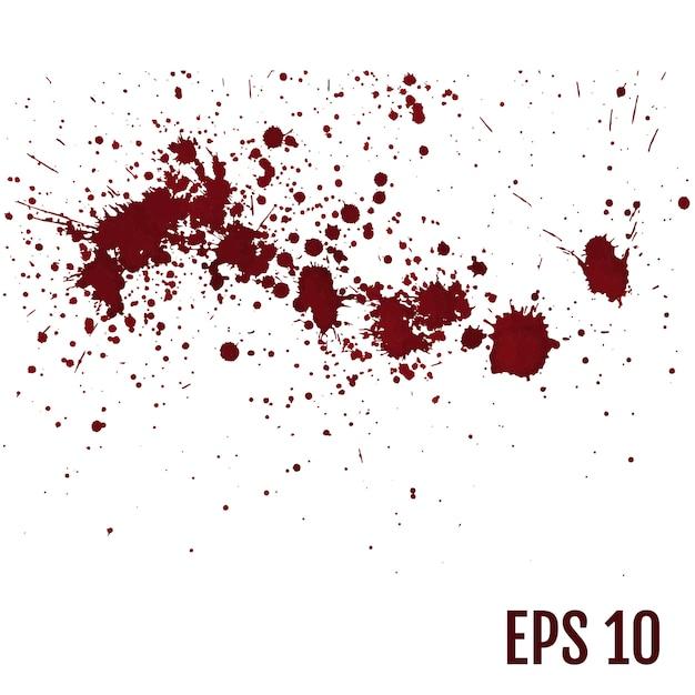様々な血や塗料飛び散っのセット Premiumベクター