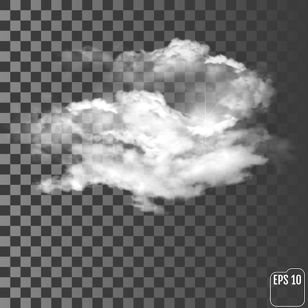 透明な背景にリアルな雲 Premiumベクター