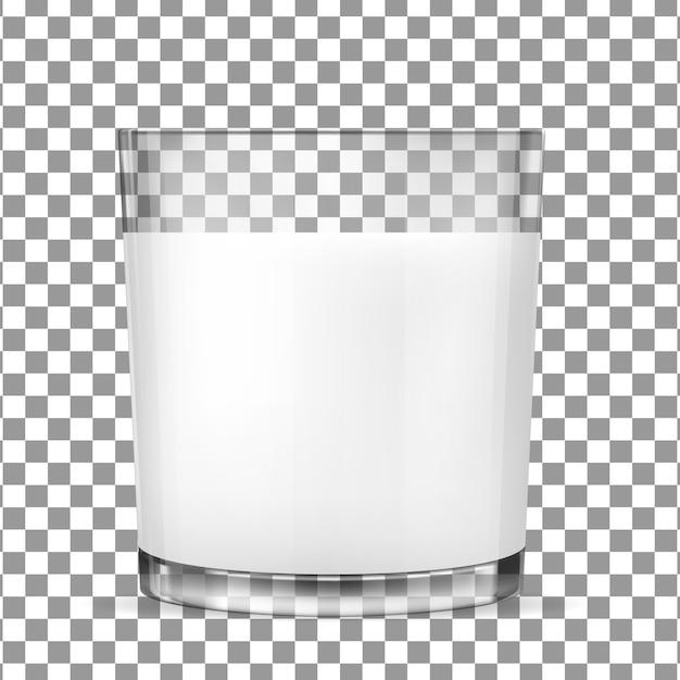 牛乳用透明ガラス Premiumベクター