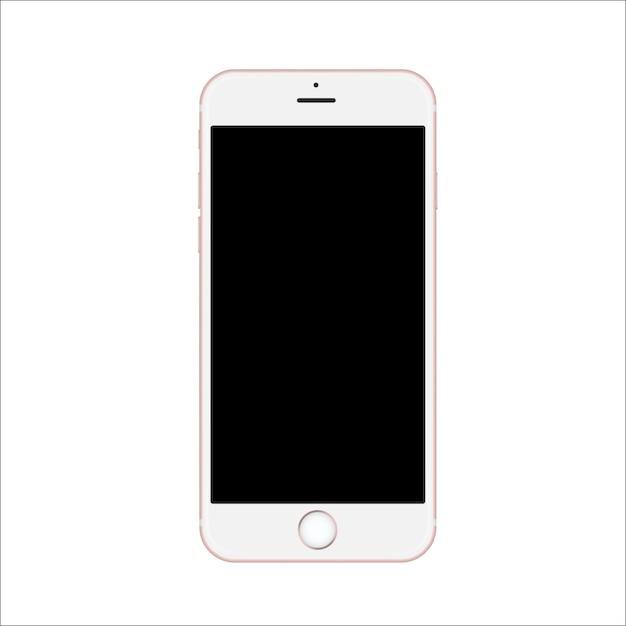 黒い画面を持つスマートフォン Premiumベクター