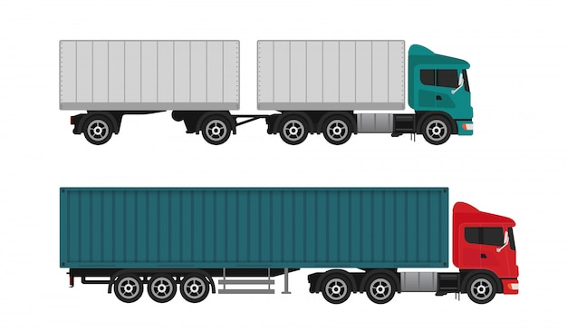 配達出荷貨物トラック Premiumベクター