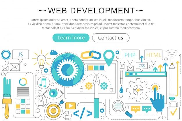 Концепция веб-разработки Premium векторы