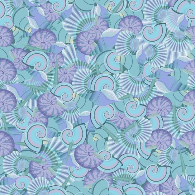 シームレスな貝殻パターンベクトル Premiumベクター