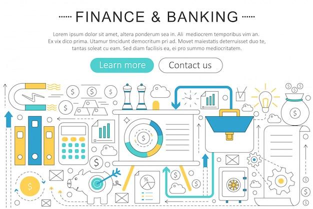 金融、銀行投資の概念 Premiumベクター