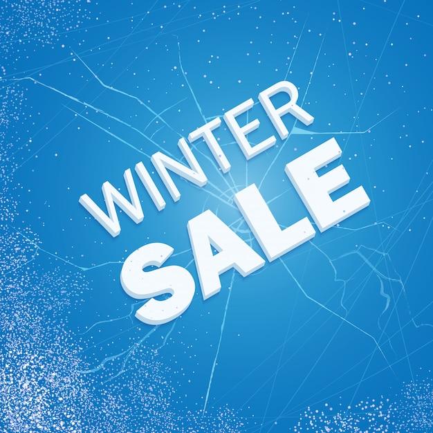 冬のアイスセール Premiumベクター