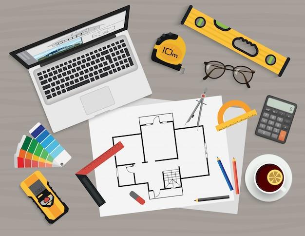 建築家作成プロセス Premiumベクター