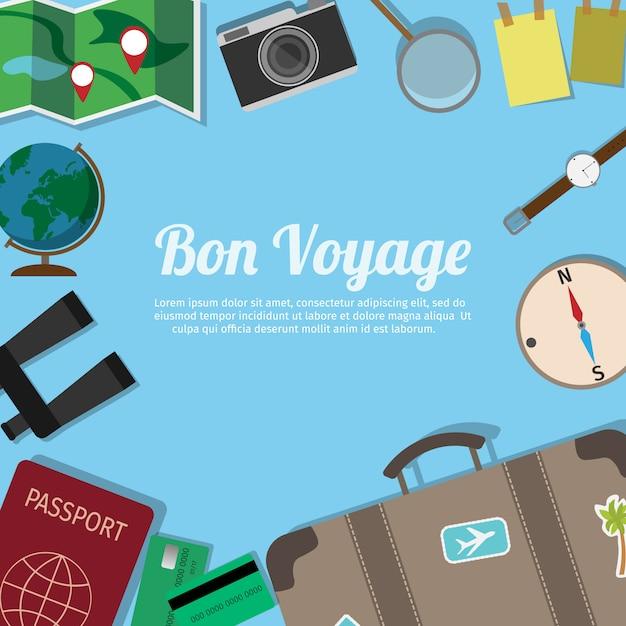 旅行者のスーツケース Premiumベクター