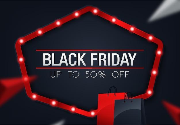 抽象的なベクトル黒金曜日の販売レイアウトの背景 Premiumベクター