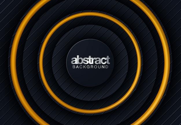 抽象的なライン黒背景 Premiumベクター