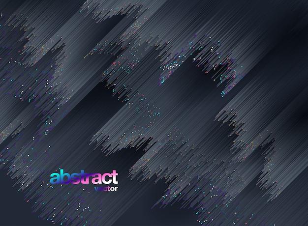 輝く背景、抽象的なベクトルの背景で構成される線 Premiumベクター
