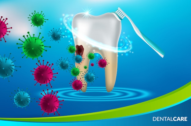歯科医療と歯 Premiumベクター