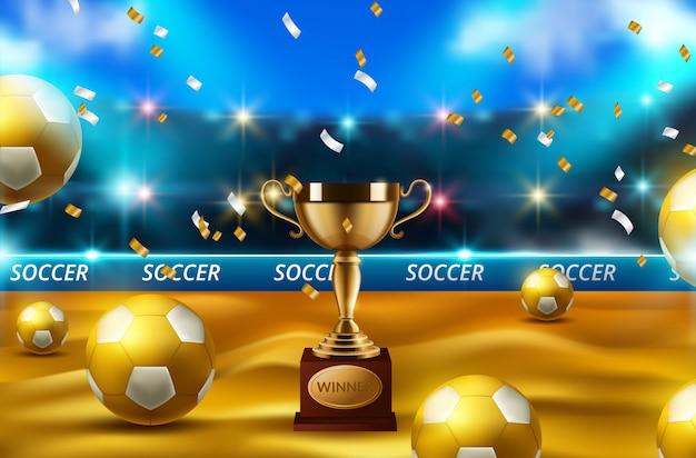 Концепция футбольного мяча Premium векторы