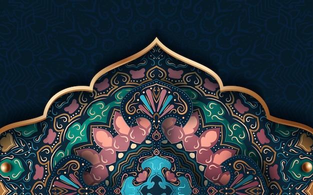 伝統的な飾りと抽象的な背景 Premiumベクター