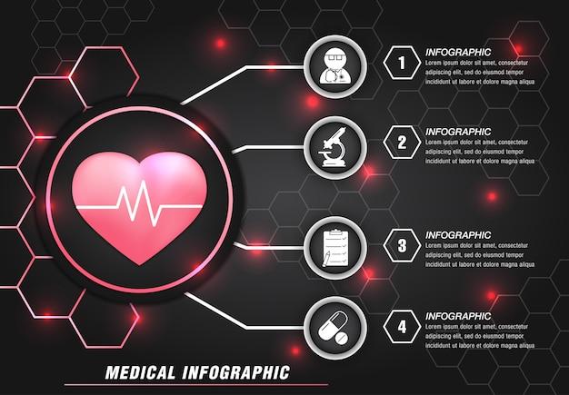 Современная медицинская информация графический шаблон Premium векторы
