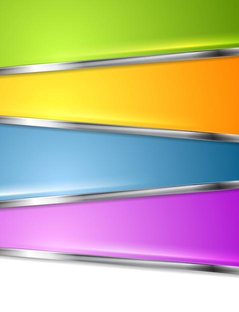 明るいインフォグラフィックの背景 Premiumベクター