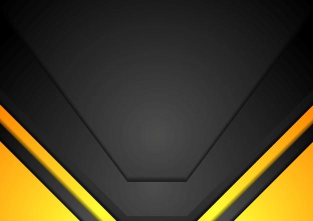 黄色と黒のコーポレートアートの背景 Premiumベクター