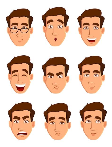 男の表情 Premiumベクター