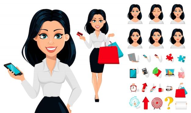 現代の若いビジネス女性の概念 Premiumベクター