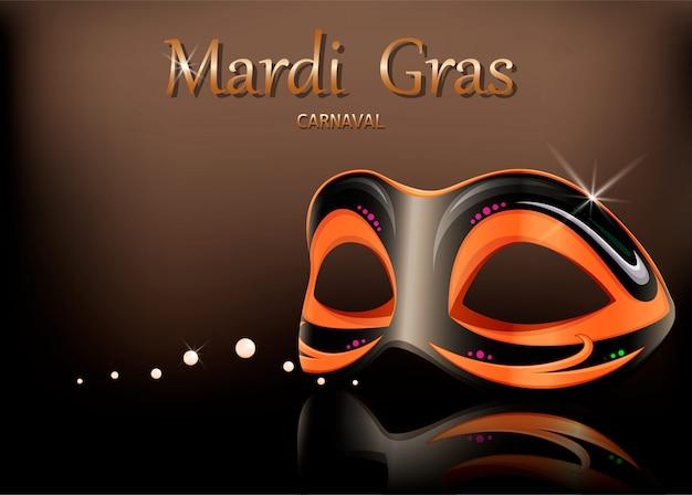 マルディグラのカーニバルマスク Premiumベクター