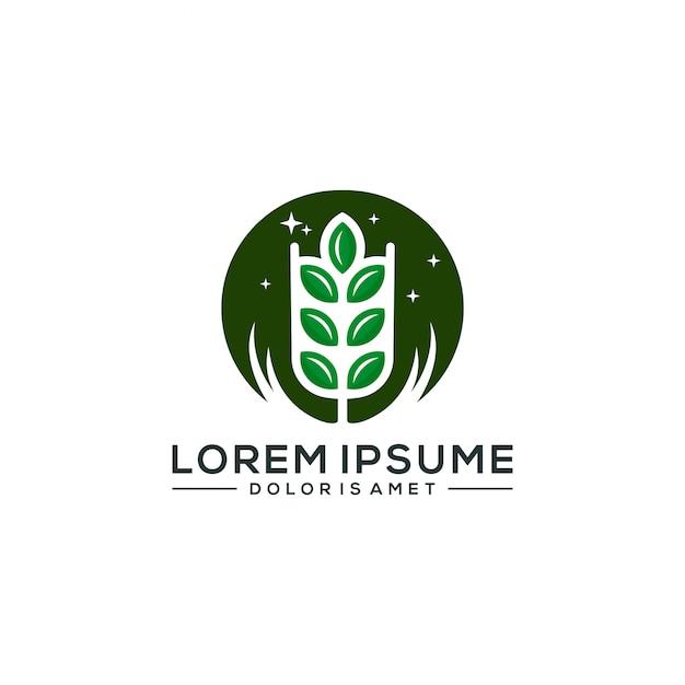 農業のロゴのテンプレートベクトル図 Premiumベクター