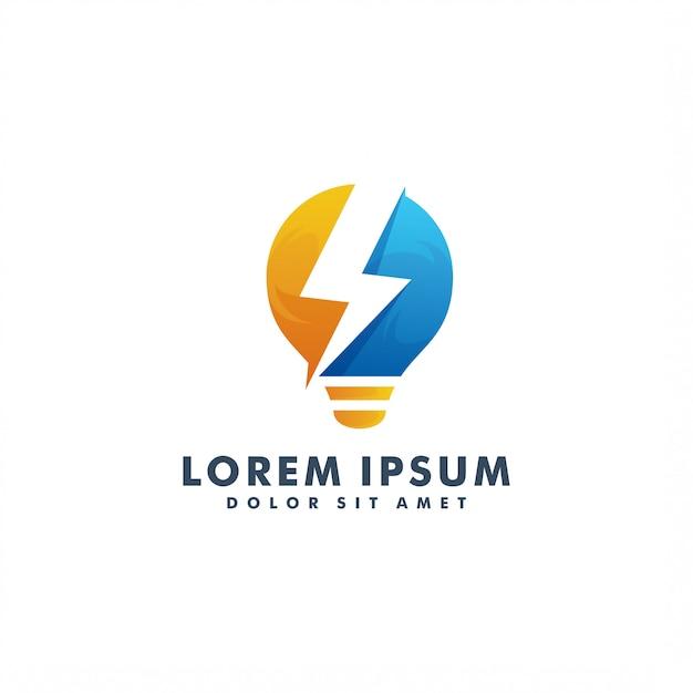 Шаблон электрического логотипа Premium векторы