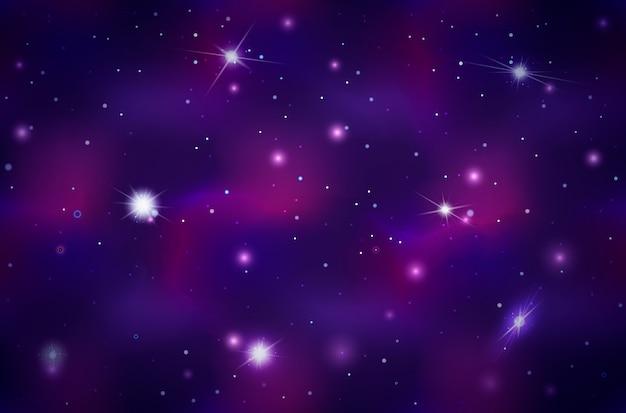 明るい星と星座の広い深宇宙の背景 Premiumベクター