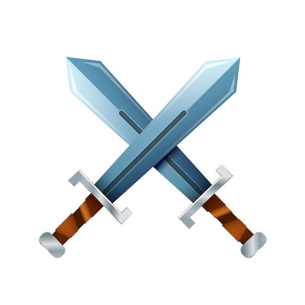 交差した刀 Premiumベクター