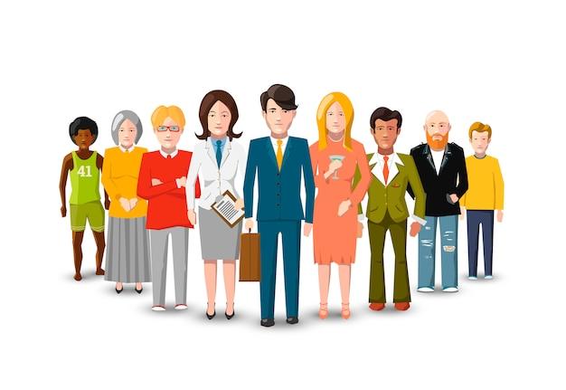 人々、国際的なグループの分離フラット Premiumベクター