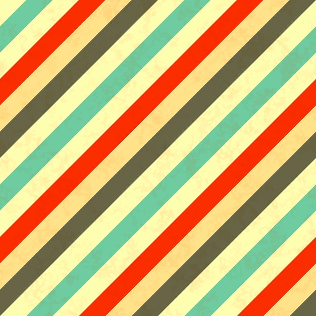 Диагональные полосы ретро цвета, бесшовные модели Premium векторы