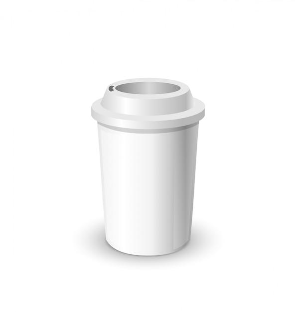現実的なモックアップのコーヒーカップ Premiumベクター