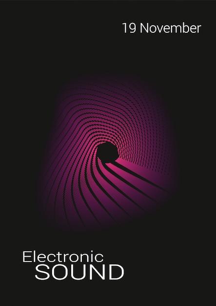音楽の抽象的なポスター。 Premiumベクター