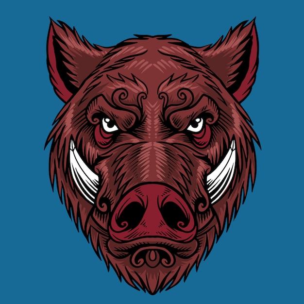 豚の頭 Premiumベクター