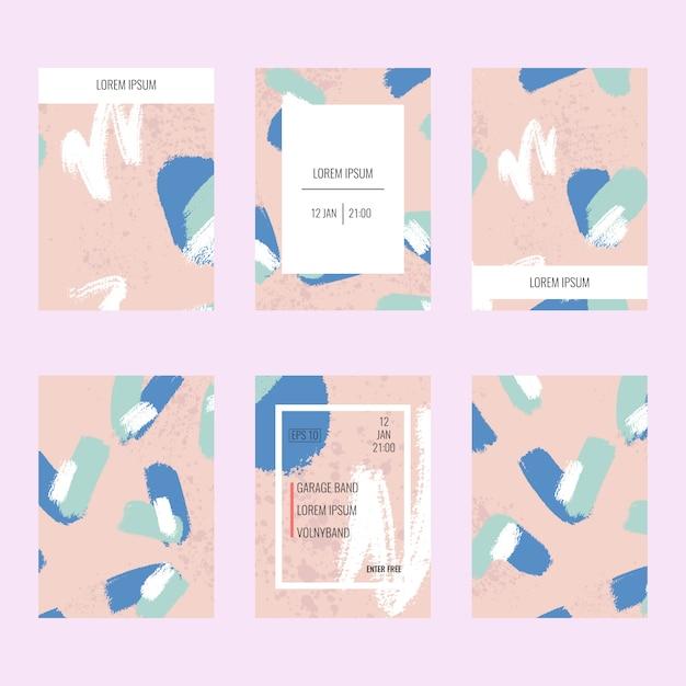 抽象的なパンフレットセット。 Premiumベクター