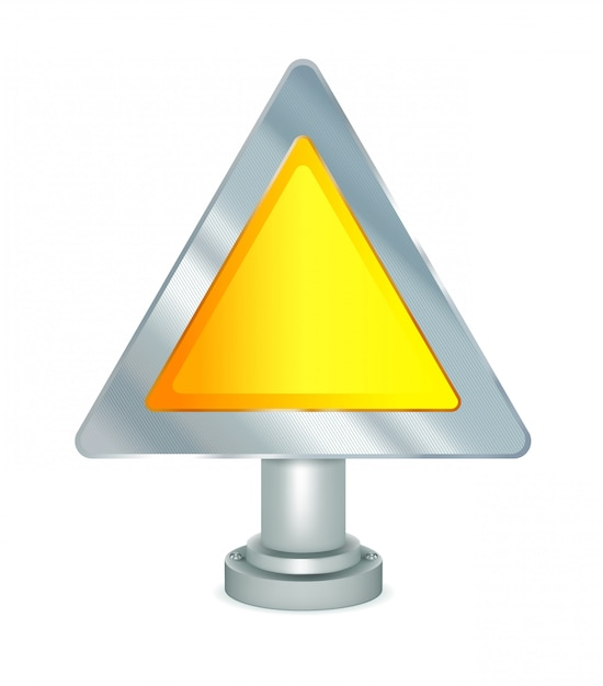 Пустой предупреждающий знак Premium векторы