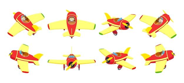 おもちゃの飛行機 Premiumベクター