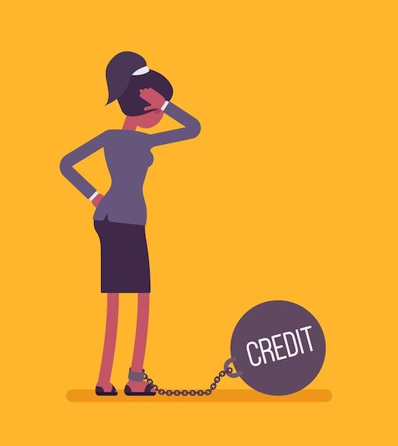 重量クレジットとチェーンの実業家 Premiumベクター