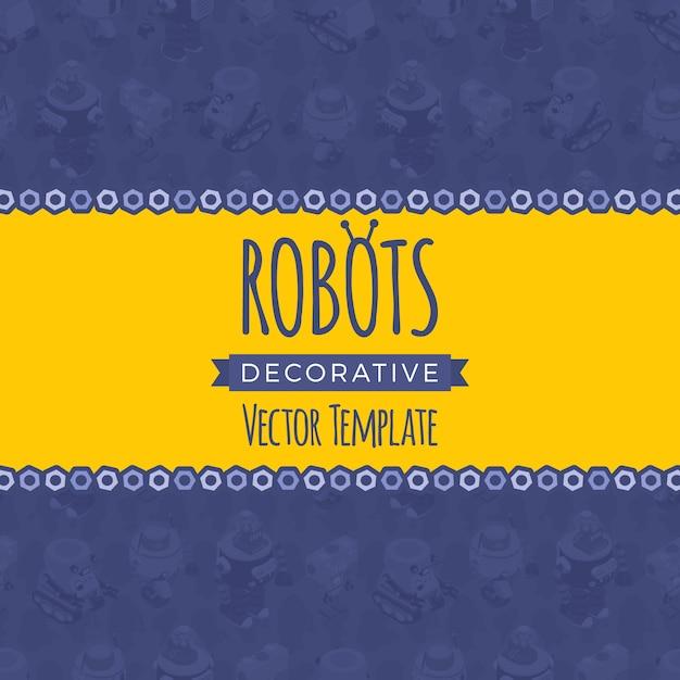 Дизайн фона из роботов Premium векторы