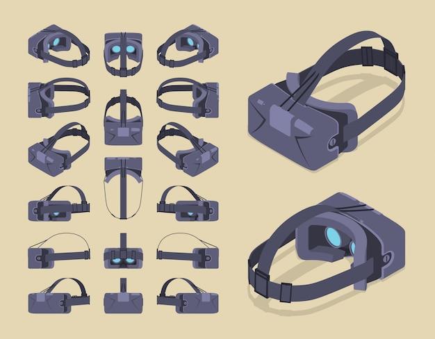 等尺性仮想現実ヘッドセット Premiumベクター