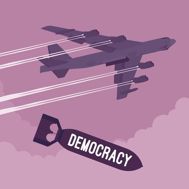 爆撃機と民主主義爆撃 Premiumベクター