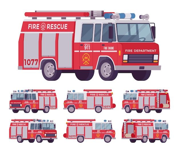 消防車セット Premiumベクター