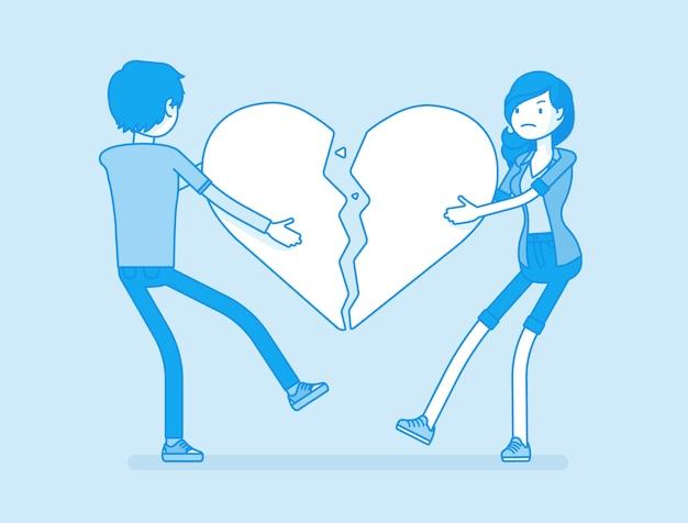Любители разбитого сердца Premium векторы