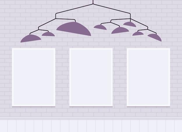 Белая кирпичная стена с рамками для копирования пространства Premium векторы