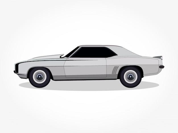 Детальный кузов и ободки плоского мультфильма автомобиля Premium векторы