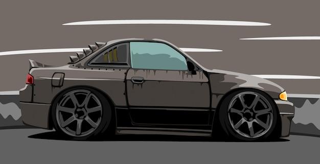 Изготовленный на заказ черный автомобиль Premium векторы