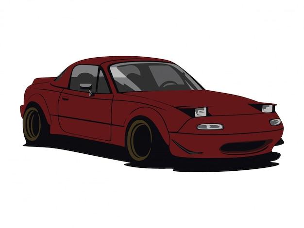 Изготовленный на заказ темно-красный автомобиль Premium векторы