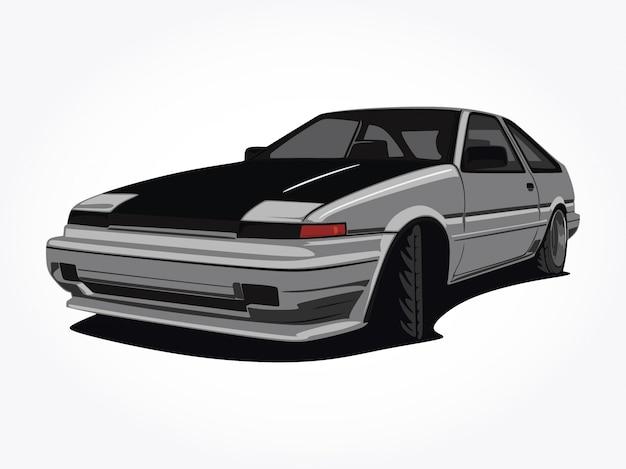 Пользовательская иллюстрация автомобиля Premium векторы