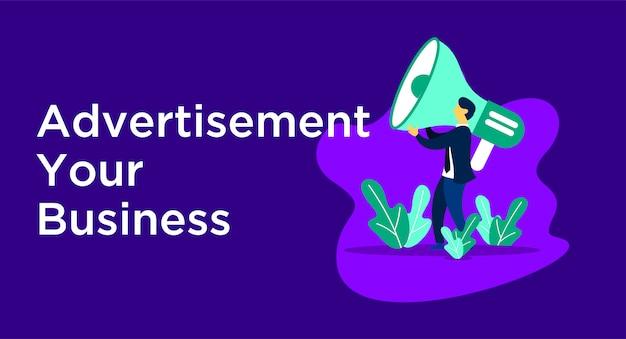 広告ビジネスイラスト Premiumベクター