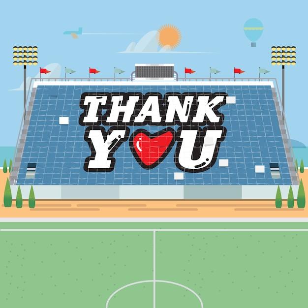 スタジアムカードのスタント。ありがとうございました。 Premiumベクター