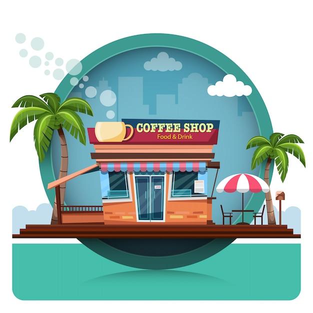 コーヒーショップ Premiumベクター
