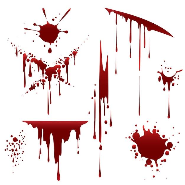 Кровавый ужас неряшливые брызги Premium векторы